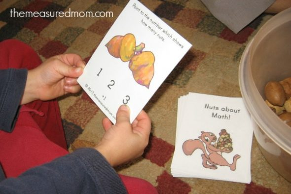 Check out this post for 6 fall math activities for preschool and kindergarten - with links to free printables!