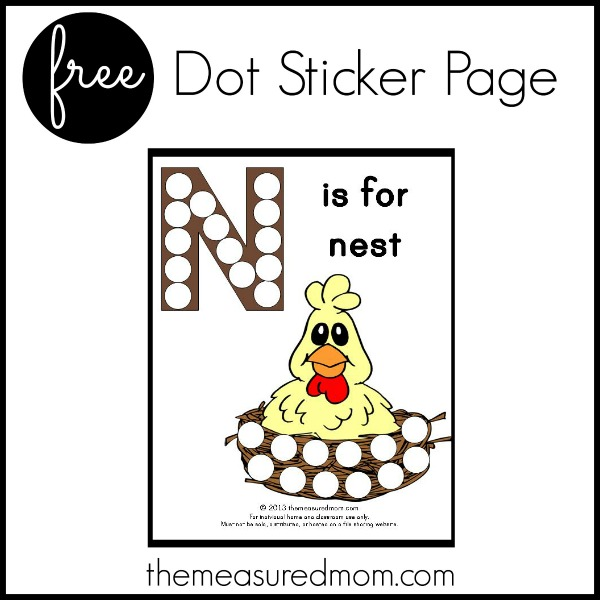 Want to give your child practice with fine motor letter formation? Check out The Measured Mom's FREE collection of dot sticker pages!