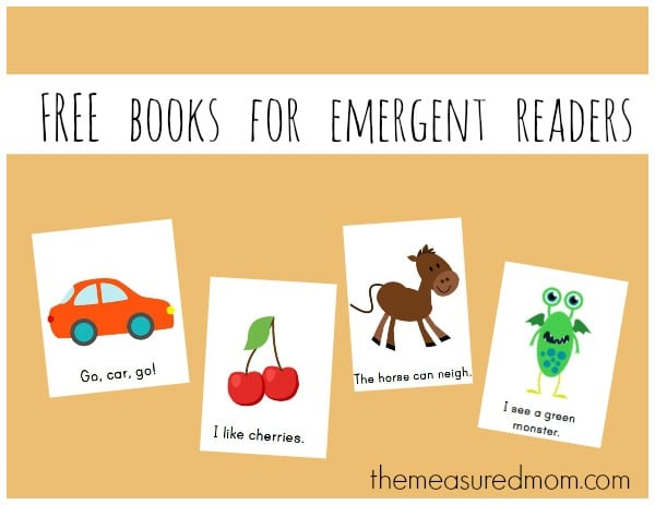 free books for emergent readers