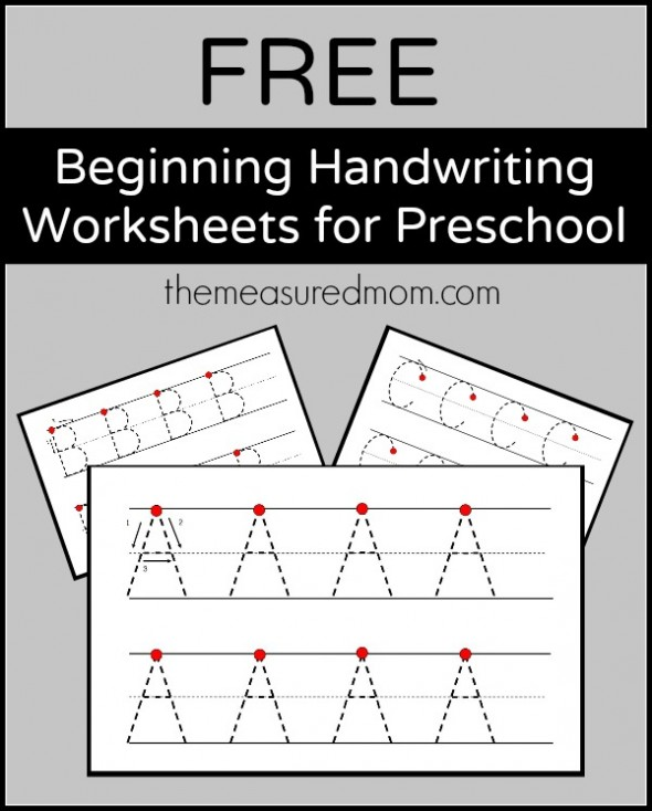 Teaching Handwriting The Measured Mom