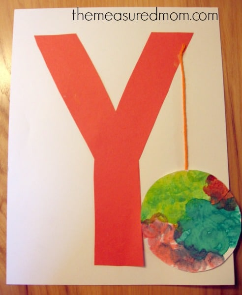 Letter Y Crafts and Process Art for Preschoolers - The Measured Mom