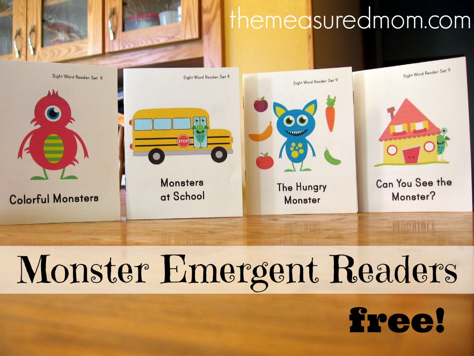 free resources for mom, printable monster books