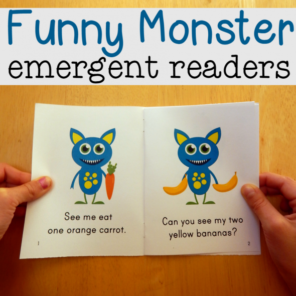 monster emergent readers square image