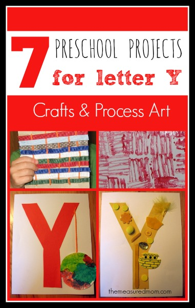 7 Letter Y Crafts and Process Art for Preschoolers - The ...