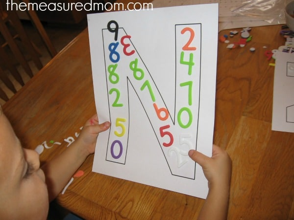 writing letter N 2 the measured mom Teach preschoolers to write the alphabet   Letter N