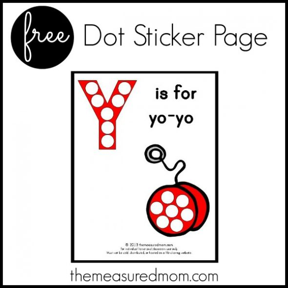 Get this free printable activity page for letter Y for your preschooler!