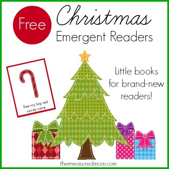 Free Christmas emergent readers the measured mom 590x590 Free Christmas Emergent Readers (sight word big)