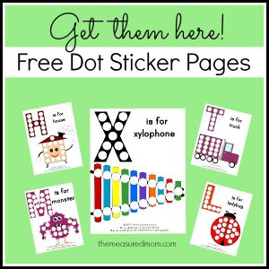 Free dot sticker pages - the measured mom