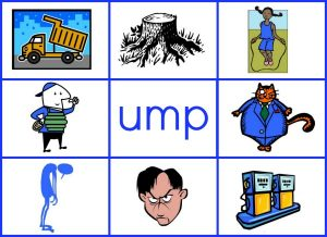 UMP word family mat reduced size 300x218 Word Family Activities for Short u (final set of short vowel Read n Stick!)