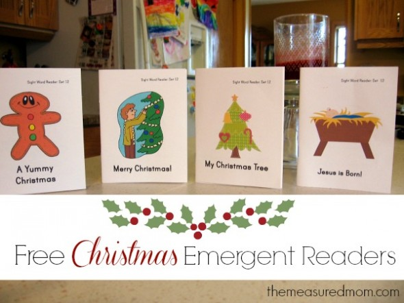 Looking for some free Christmas emergent readers? Stop by The Measured Mom to get a set of four! Perfect for brand-new readers.