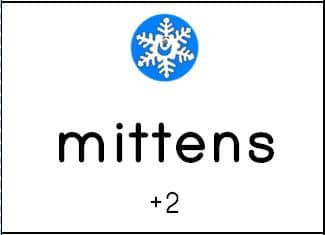 mittens Free winter spelling activity   a game for any word list! (grades 1 3)