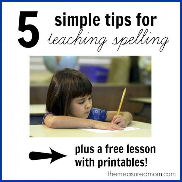tips for teaching spelling the measured mom 590x590 Tips for teaching spelling    and a free lesson (with printables!) for spelling long e (ee, ea)