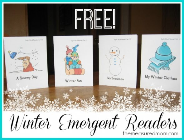 winter emergent readers 5 the measured mom2 590x448 Free Winter Emergent Readers! (sight word readers, set 13)