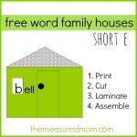 Free word family houses for short e the measured mom 150x150 Free Printables