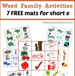 Free word family mats for short e the measured mom e1386052872611 148x150 Free Printables