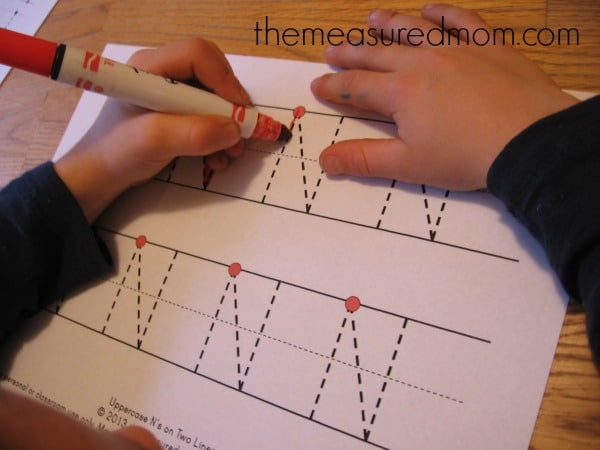 Make N 2 the measured mom Teach preschoolers to write the alphabet   Letter N