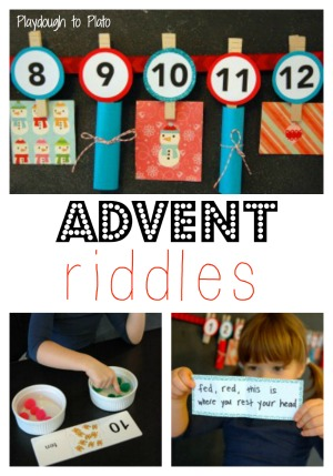advent riddles1 Countdown to Christmas ideas for kids! (and a new After School Link up)