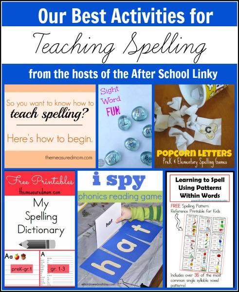 best activities for teaching spelling the measured mom Top Spelling Activities from the Hosts of the After School Linky