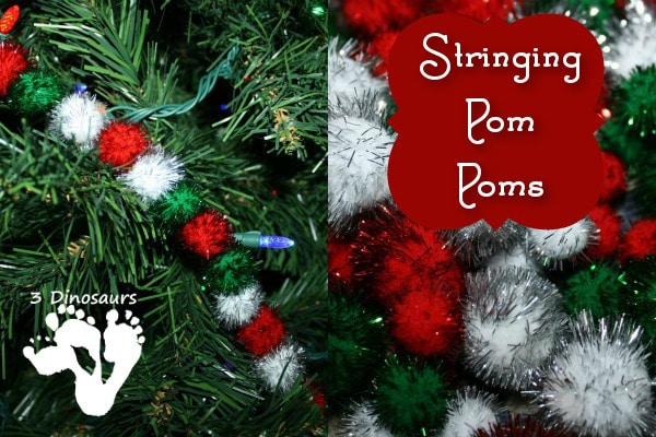 stringingpompoms Last minute Christmas decorations (that your kids can make!)    plus a new After School Linky
