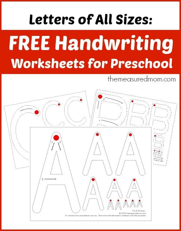 preschool writing worksheets free