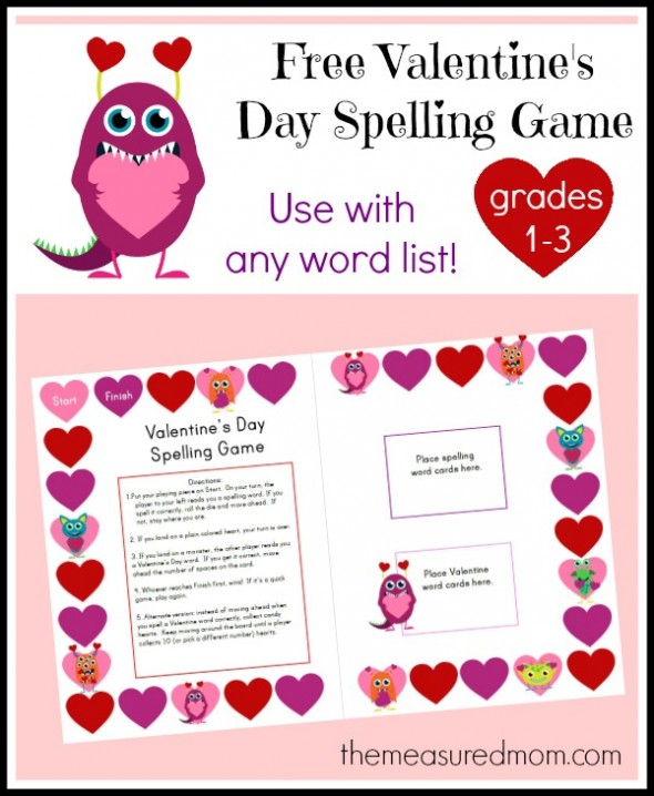 free Valentines Day spelling game the measured mom1 590x718 Free Valentines Day Spelling Game