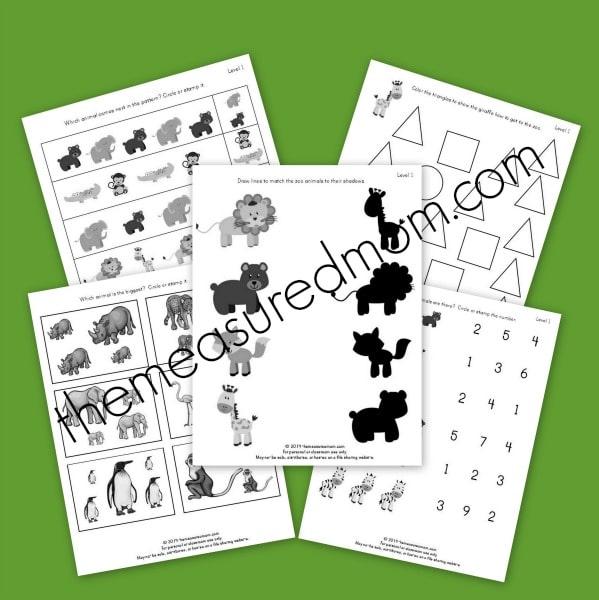 Free Zoo Worksheets for Preschool and Kindergarten - The ...