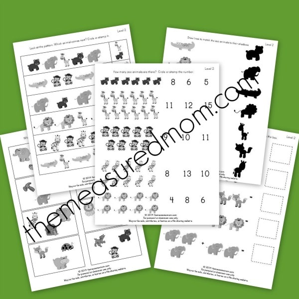 These level two worksheets are good for older preschoolers. My Three ...