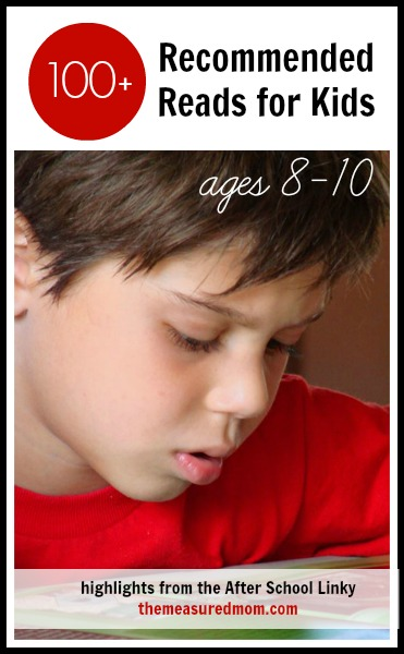Here's a giant list of over 100 recommended books for 8-10 year olds!