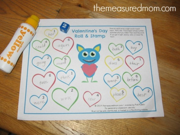 Need a simple Valentine's Day sight word activity? Print this freebie!