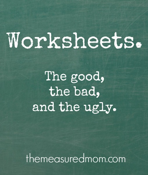 worksheets good bad and ugly Are worksheets good or bad?