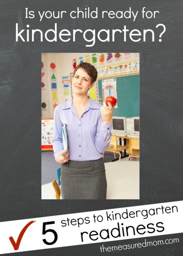 Get a printable ready for kindergarten checklist!