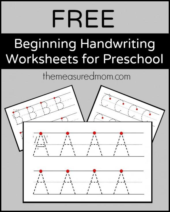 Level 2 Handwriting Worksheets - Uppercase - The Measured Mom