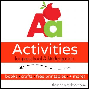 Letter A Activities - the measured mom