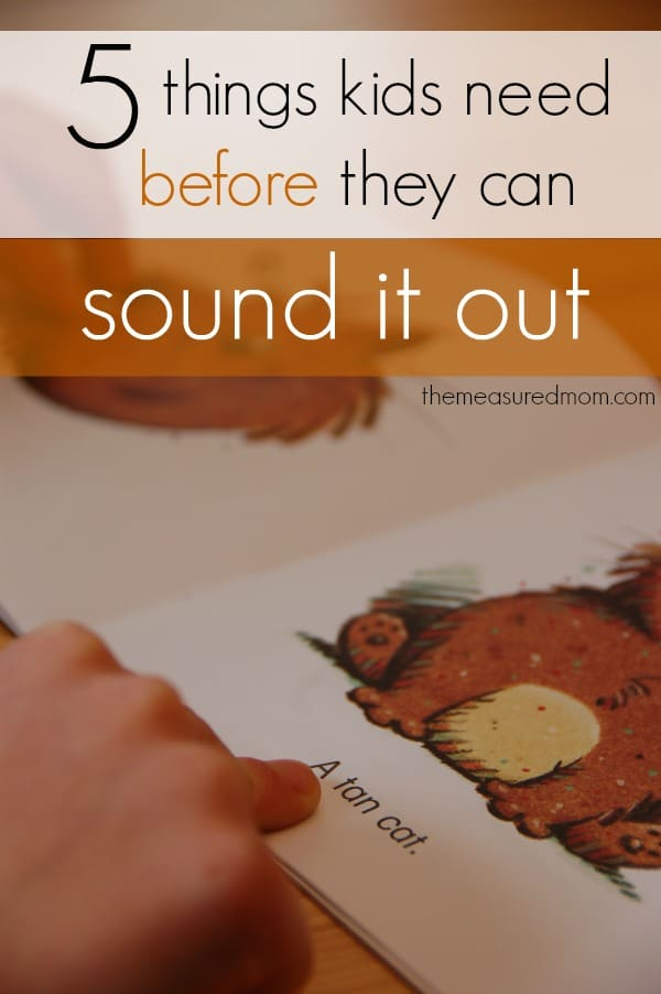Does your child have these 5 pre-reading skills?  He might be ready to sound out words.