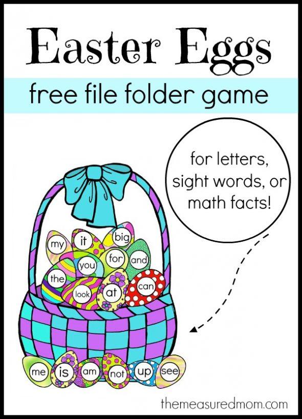 Free Easter Eggs File Folder Game1 590x818 Free Easter File Folder Game!