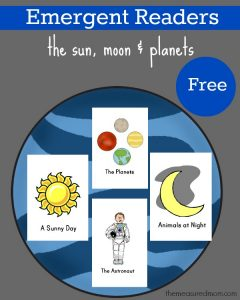 Free sun, moon and planets emergent readers - the measured mom