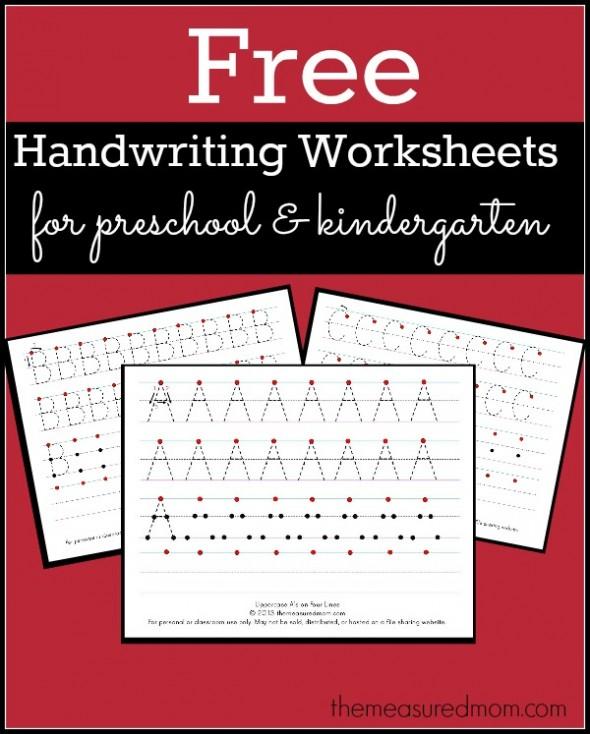 Free Printable Worksheets Writing : Free printable handwriting worksheets for preschool