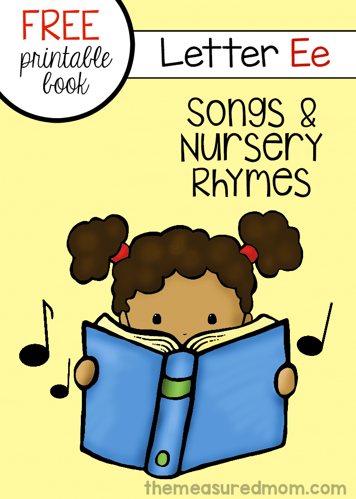 Children S Book Cover Letter : Letter e songs rhymes mini book