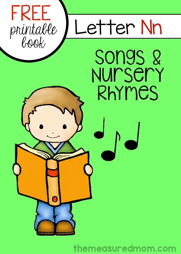 Free Letter | Free Letter Book Of Rhymes Songs Letter N The Measured Mom
