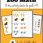 zoo math activity sheets for prek and k the measured mom 150x150 Free Printables