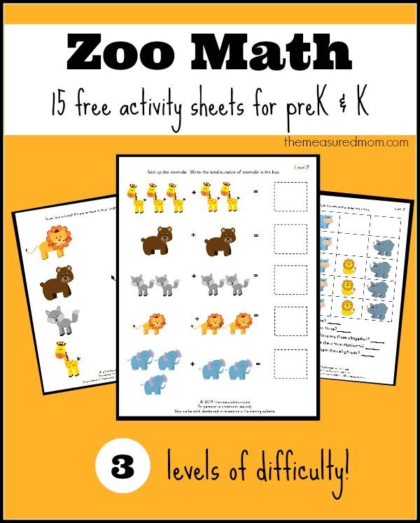 Free Zoo Worksheets For Preschool And Kindergarten - The Measured Mom