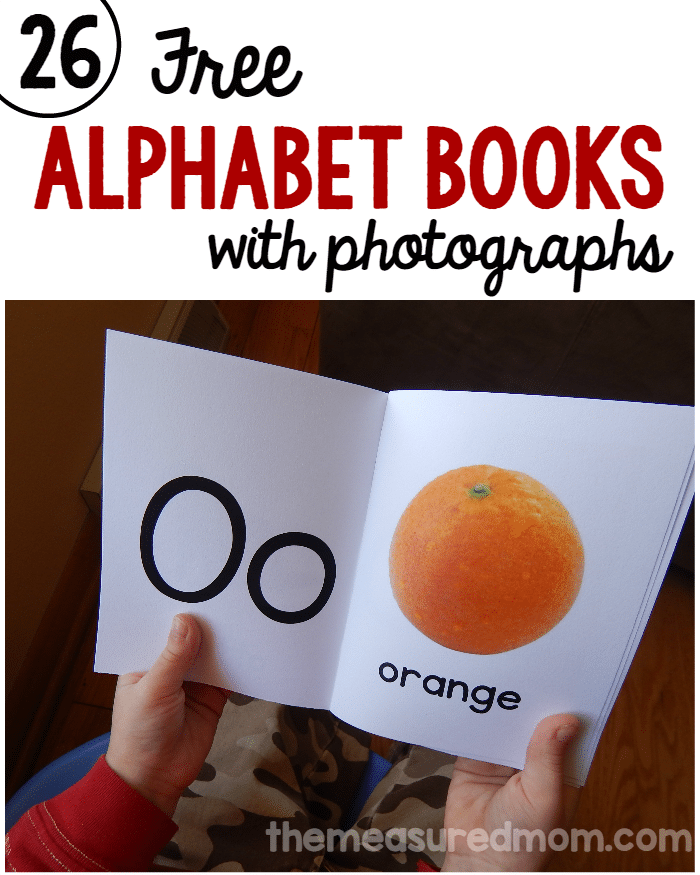 26 alphabet books with photographs