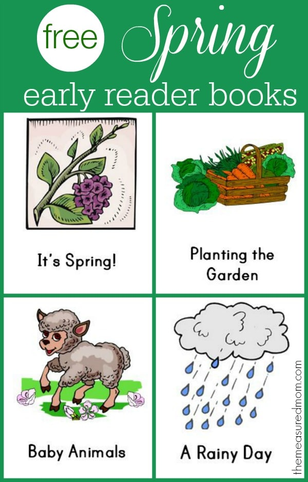 free early reader books for spring
