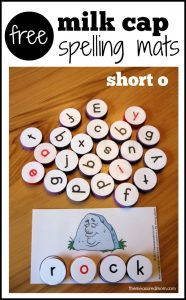 free milk cap spelling mats for short o