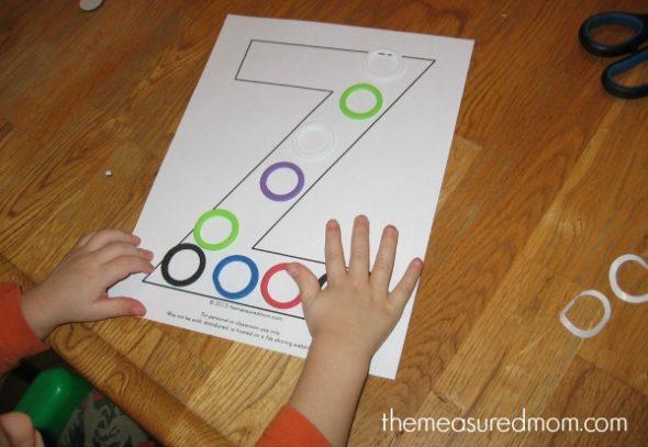 make letter Z (2) - the measured mom