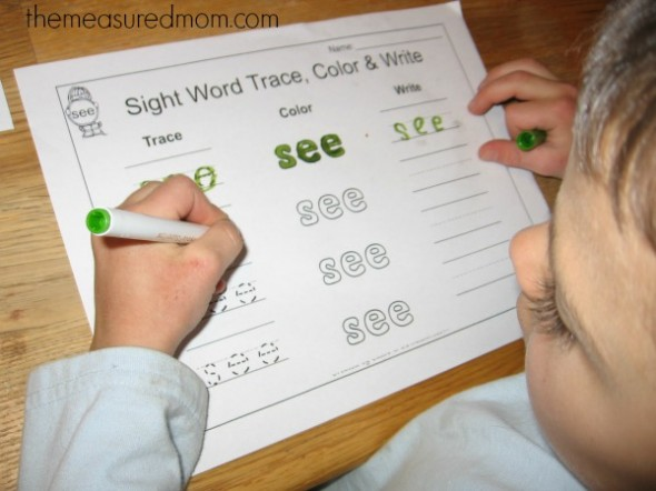 Find own  worksheets the the my Words Sight make in word sight Sentences