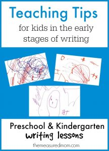 teaching tips for kids in the early stages of writing
