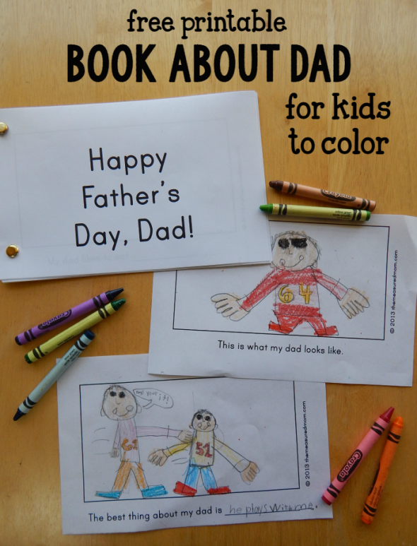 free printable book about Dad