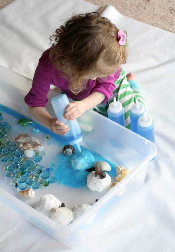 fun at home with kids 590x845 Ocean sensory play