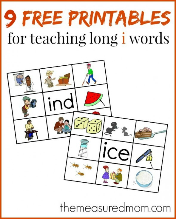 If you're looking for something to help your child read long i words, print these eight free word family mats and cards. Hands on learning at its best!